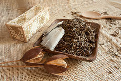 Dried tea leaves Royalty Free Stock Photo