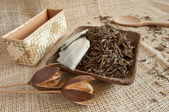 Dried tea leaves Stock Photography