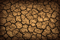 Dried Terrain. Pattern of cracked and dried soil under the Sun royalty free stock photography