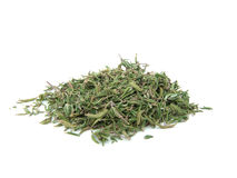 Dried thyme. Isolated on white background Royalty Free Stock Photography
