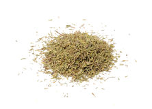 Dried Thyme Isolated on White Background Royalty Free Stock Photos