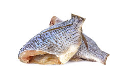 Dried Tilapia one sun on white Stock Images