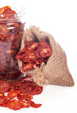Dried tomatoes from a bag Stock Photo