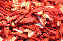 Free Dried Tomatoes For Sale In The Market Of Southern Italy Stock Image - 47309831