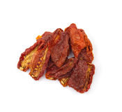 Dried tomatoes isolated on white Royalty Free Stock Photos