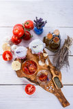 Dried tomatoes in olive oil. Stock Photography