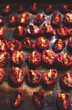 Dried tomatoes with olive oil and spices Royalty Free Stock Images