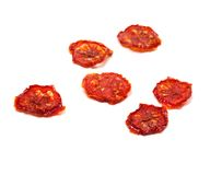 Dried tomatoes on white background Stock Image