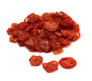 Dried tomatoes on white background. Stock Photography