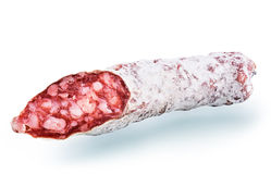 Dried traditional salami Royalty Free Stock Image