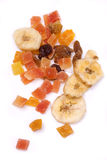Dried tropical fruit Stock Photography