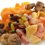 Dried Tropical Fruits Mix. Close Up Stock Photos