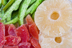 Dried tropical fruits Royalty Free Stock Photos