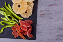 Dried tropical fruits Stock Photos