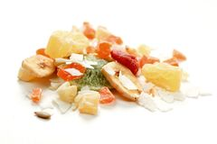 Dried Tropical fruits Royalty Free Stock Images