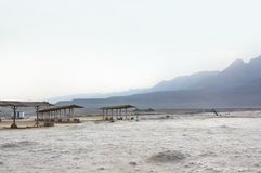 The dried-up bottom of the shallowed Dead sea royalty free stock image