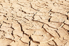 Dried up and cracked mud in dry waterhole royalty free stock photos