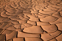 Dried up river bed Royalty Free Stock Image