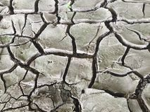 Dried up river bed in the sun Royalty Free Stock Images