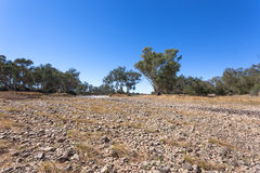 Dried up river in outback Australia. Stock Photos