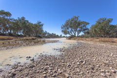 Dried up river in outback Australia. Stock Image