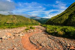 Dried up river Royalty Free Stock Photo