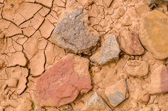 Dried up Riverbed. A Dried up Riverbed Royalty Free Stock Image