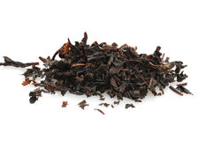 The dried up sheet black tea Stock Image