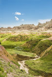 Dried up stream in Badlands National Park Stock Images