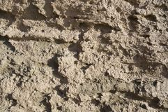 The dried up surface of clay Stock Image