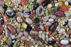 Dried vegetable and bean soup mix Royalty Free Stock Photos