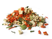 Dried vegetables stock photos