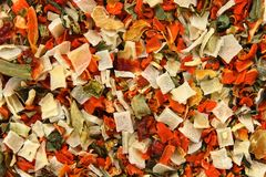 Dried vegetables background Stock Photos
