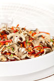 Dried vegetables on food dehydrator tray Royalty Free Stock Photo