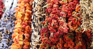 Dried Vegetables in Istanbul Stock Photography