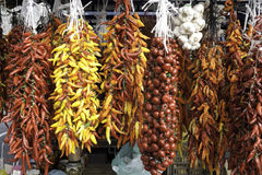 Dried Veggies on a Market Royalty Free Stock Photos