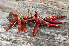 Dried vibrant hot peppers, food background Stock Image