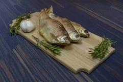 Dried Vobla fish stock photos