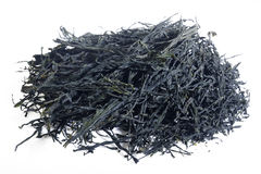 Dried wakame. On white background Stock Photo