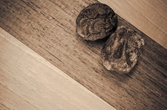 dried walnut husks Royalty Free Stock Image