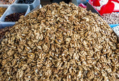 Dried walnuts, addition to the dishes and cakes Royalty Free Stock Image