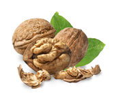 Dried walnuts Stock Photography