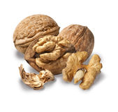 Dried walnuts Stock Image