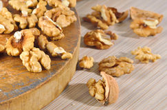 Dried walnuts Royalty Free Stock Photo