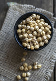 Dried white chickpeas Royalty Free Stock Image