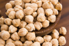 Dried white chickpeas ceci Stock Photos
