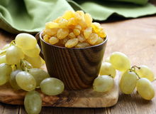 Dried white grapes (raisins) Stock Image