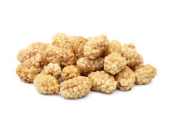 Dried white mulberries Stock Photography