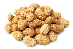 Dried white mulberries Royalty Free Stock Images