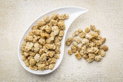 Dried white mulberry Stock Images